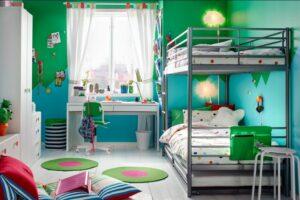кровать - чердак в интерьере детской
