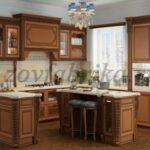 Основные виды кухонь ЗОВ из массива