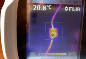 Поиск скрытой электропроводки тепловизором