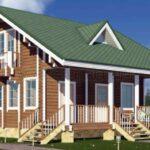 Дома из клееного бруса с террасой или с гаражом