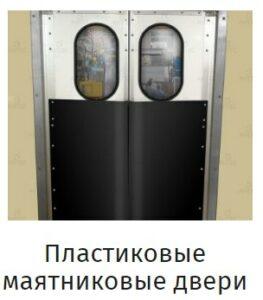 Маятниковые двери из пластика