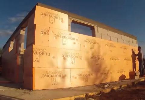 Теплоизоляция стен дома пеноплексом