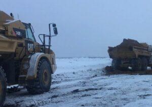 земляных работ в зимний период