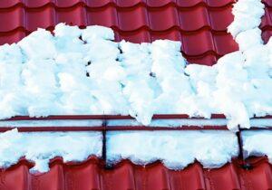 снегозадержатели зимой