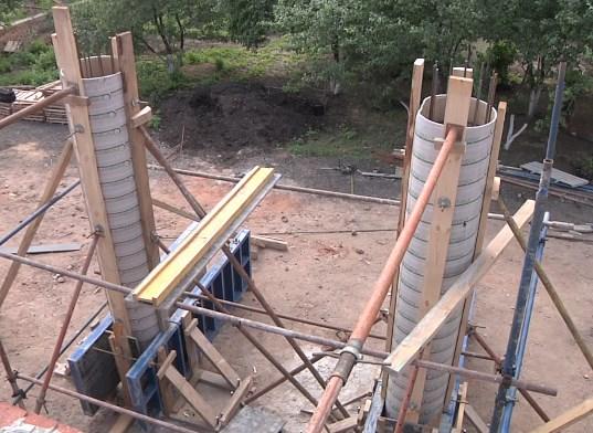 опалубка для создания круглых колонн